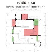 江南世家4室2厅2卫158平方米户型图