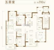金融街・金色漫香苑5室2厅2卫190平方米户型图