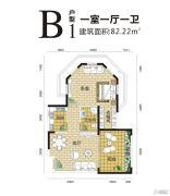 金手指白鹭湖1室1厅1卫82平方米户型图