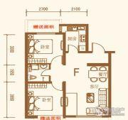 上尚城2室1厅1卫82平方米户型图