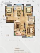 海尔地产国际广场3室2厅1卫110平方米户型图