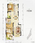 万达西双版纳国际度假区2室2厅1卫89平方米户型图