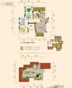 奥园城市天地3室2厅2卫100平方米户型图