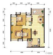 东山雅居3室2厅2卫135--136平方米户型图