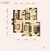 建龙・班芙小镇3室2厅2卫118平方米户型图