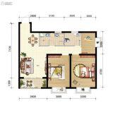 山海城邦・马街摩尔城3室2厅1卫89平方米户型图
