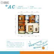 华宇景观天下3室2厅2卫111平方米户型图