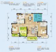 润和长郡府4室2厅2卫118平方米户型图