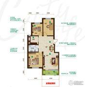 昂展公园里3室2厅1卫111平方米户型图