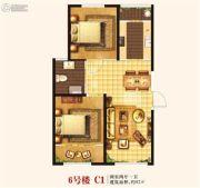 城关江南明珠2室2厅1卫92平方米户型图