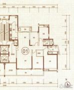 中惠国际金融中心3室2厅2卫177平方米户型图
