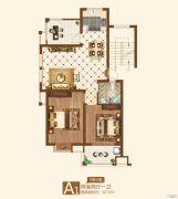 竟达风渡2室2厅1卫87平方米户型图