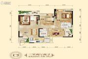 长兴星城3室2厅2卫120平方米户型图