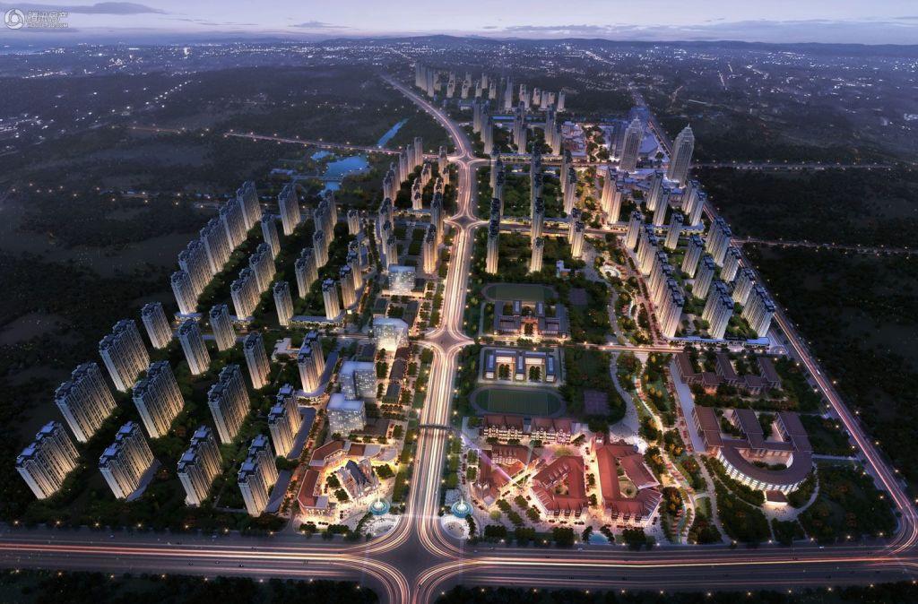 加州·东部世界城整体规划效果图