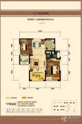 中建长清湖2室2厅1卫86平方米户型图