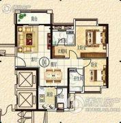 清远奥园2室2厅2卫0平方米户型图