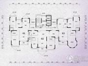 锦绣国际花城3室2厅2卫130平方米户型图