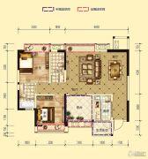 凤凰城2室2厅2卫96平方米户型图