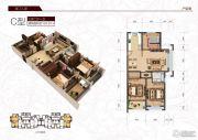春江人家3室2厅1卫124平方米户型图