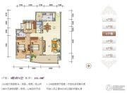 紫瑞华庭3室2厅2卫129--131平方米户型图