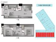 普陀龙湾3室2厅2卫50平方米户型图