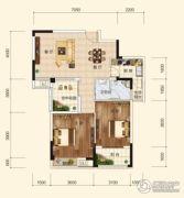 香樟里2室2厅1卫88平方米户型图