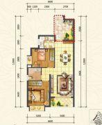 万达西双版纳国际度假区2室2厅1卫71平方米户型图