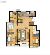 万科城3室2厅2卫130平方米户型图