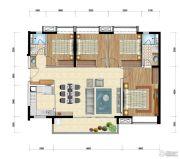 时代水岸4室2厅2卫125平方米户型图