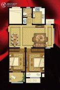 书香华府2室2厅1卫91平方米户型图