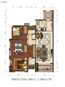 同创・滨江3室2厅2卫97平方米户型图
