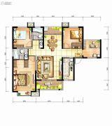 坤元TIME3室2厅2卫116平方米户型图