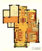 海月名都2室2厅2卫89平方米户型图