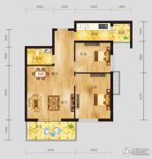 恩施国际商贸城2室2厅1卫83平方米户型图