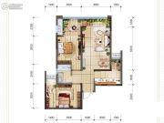 首创光和城3室2厅2卫66平方米户型图