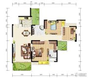 天成郦湖国际社区3室2厅2卫134平方米户型图