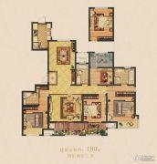 嵊州新城吾悦广场4室2厅3卫180平方米户型图