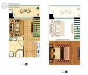 锦峰E公馆1室1厅2卫45平方米户型图