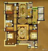 中瓯・金色海岸4室2厅3卫211平方米户型图