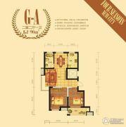 四季新城2室2厅1卫90平方米户型图