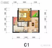 翔龙天地1室1厅1卫0平方米户型图