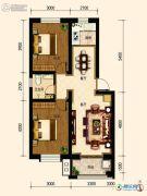 古御壹号2室2厅1卫75平方米户型图