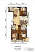 新加坡城3室2厅2卫128平方米户型图