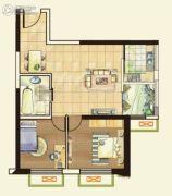 城关江南明珠2室2厅1卫67平方米户型图