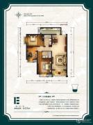 公园6号3室2厅2卫125平方米户型图