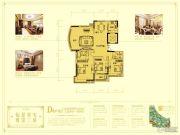 黄金国际3室2厅2卫165平方米户型图