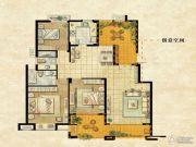 达安上品花园3室2厅2卫137平方米户型图