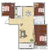 海洋・名仕公馆3室2厅1卫120平方米户型图