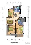 兰若・岭秀3室2厅2卫120平方米户型图