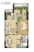 富力南昆山温泉养生谷2室2厅1卫69平方米户型图